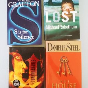 📖bundle of 4 hard cover books